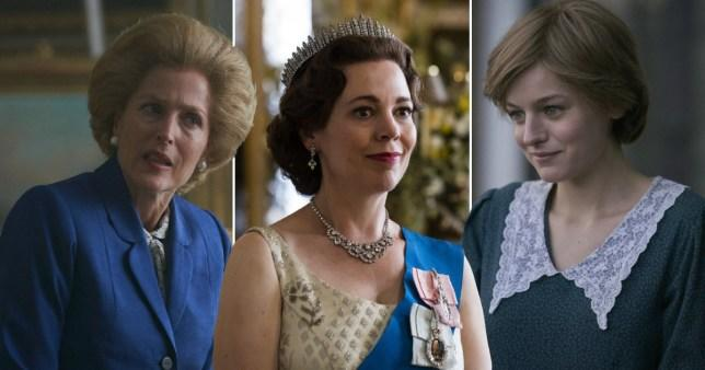 Taking a look at the women holding on the 'The Crown' firmly
