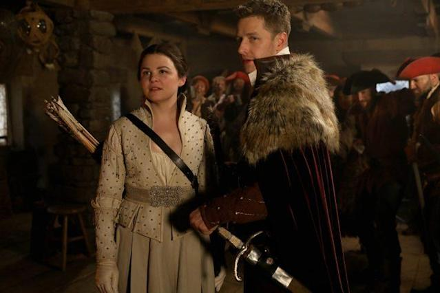 Ginnifer Goodwin as Snow and Josh Dallas as Charming in 'Once Upon a Time' (Credit: ABC/Jack Rowand))