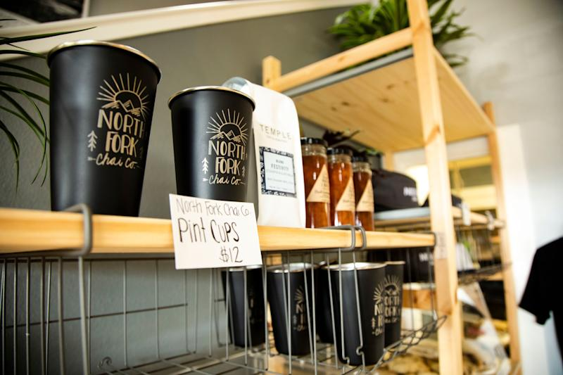 North Fork Chai, a popular community gathering spot in Newcastle, Calif., offers coffee, tea, pastries, and WiFi.