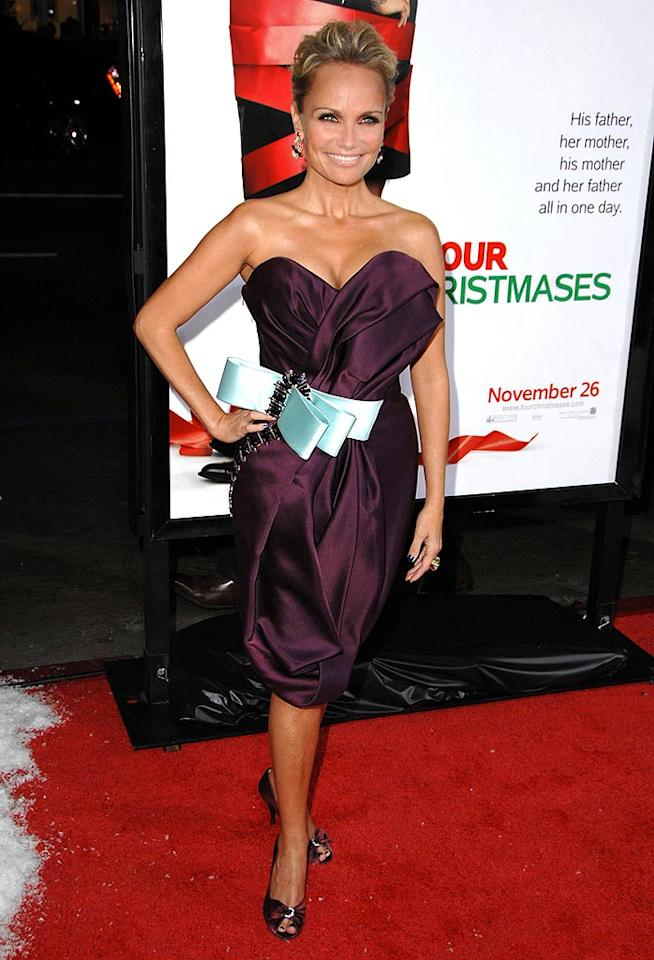 "Don't get us wrong. Kristin Chenoweth is super cute. However, her revealing eggplant dress, complete with pale blue bow, isn't nearly as darling as the diminutive Broadway diva. Steve Granitz/<a href=""http://www.wireimage.com"" target=""new"">WireImage.com</a> - November 20, 2008"