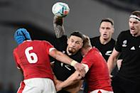 Sonny Bill Williams (C) has announced his retirement from rugby league and union