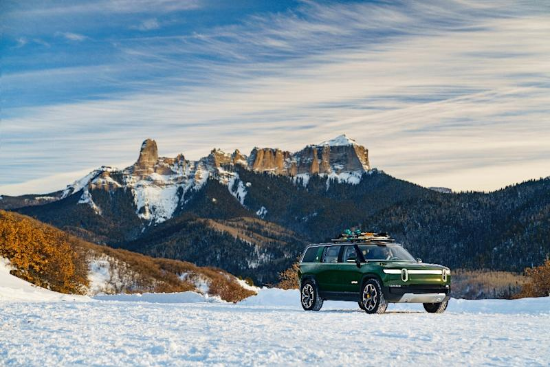 Electric vehicle startup Rivian, whose concept sport utility vehicle is seen in this company photo, is getting a $500 million investment from Ford as part of a strategic partnership between the two firms
