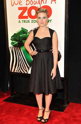 Scarlett Johansson at the New York premiere of We Bought a Zoo on December 12, 2011. Photo by Joe Corrigan, Getty Images