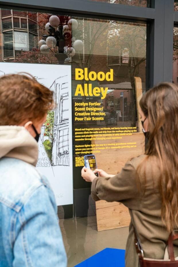 Art installations in Gastown are asking the public to engage with a study about the future of the neighbourhood.