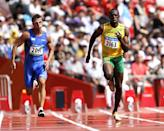 <p>Jamaican athlete Usain Bolt became known as one of the fastest men alive during the 2008 games, breaking the Olympic record for the 200 m dash and the world record for the 100 m dash. </p>
