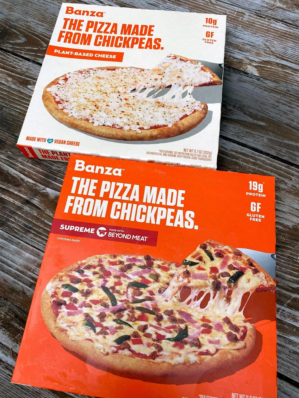 """<p>Both the Banza Plant-Based Cheese and the Supreme frozen pizzas cost $8.99 each. You can find them at Kroger, Market Basket, Thrive Market, <a href=""""https://www.amazon.com/Banza-Roasted-Veggie-Frozen-Chickpeas/dp/B09GPTQ5PK?th=1"""" class=""""link rapid-noclick-resp"""" rel=""""nofollow noopener"""" target=""""_blank"""" data-ylk=""""slk:Amazon"""">Amazon</a>, and on the <a href=""""https://www.eatbanza.com/collections/pizza"""" class=""""link rapid-noclick-resp"""" rel=""""nofollow noopener"""" target=""""_blank"""" data-ylk=""""slk:Banza website"""">Banza website</a>. If you're looking for a quick meal to keep in your freezer, I'd 100 percent recommend these.</p>"""
