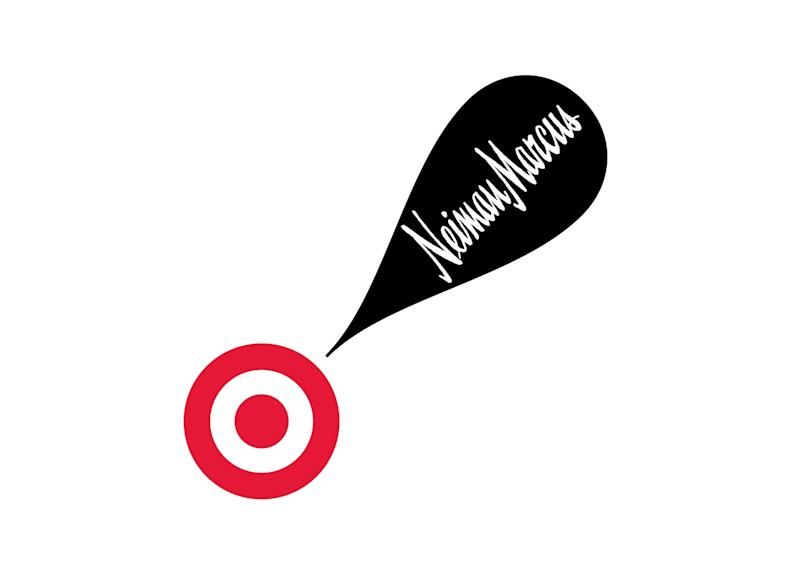 This undated image provided by Target shows the logo for the new collaboration between Neiman Marcus and Target. Discounter Target and luxury merchant Neiman Marcus will be working together to sell a holiday collection of items ranging from fashion to sporting goods developed by designers like Oscar de la  Renta and Tory Burch. (AP Photo/Target)