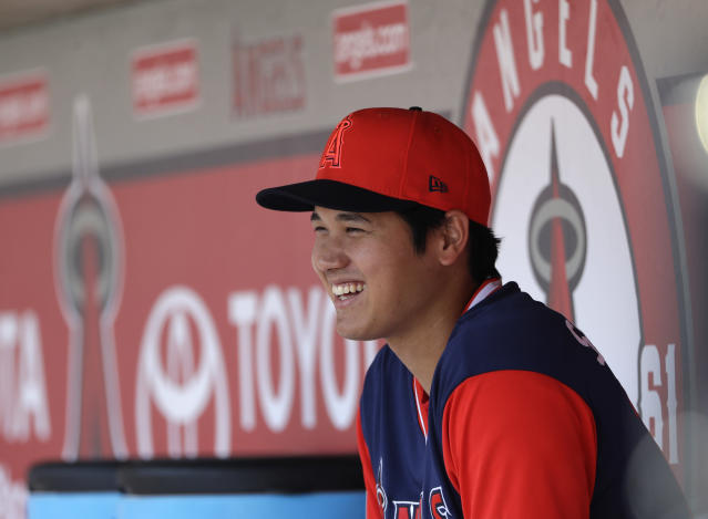 There's a chance Shohei Ohtani could return as a hitter in 2019 while recovering from Tommy John surgery. (AP)