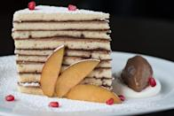 "<p><strong>State Dessert: Smith Island Cake </strong></p><p>This treat features very thin layers of cake and filling, and seems like a challenge they'd give on the <em>Great British Bake Off, </em>but it is <a href=""https://www.visitmaryland.org/list/state-symbols"" rel=""nofollow noopener"" target=""_blank"" data-ylk=""slk:known specialty of the Smith Island"" class=""link rapid-noclick-resp"">known specialty of the Smith Island </a>residents. Another fun fact? The state sport is jousting! </p>"