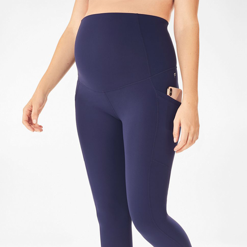 """<p><strong>Fabletics</strong></p><p>fabletics.com</p><p><strong>$94.95</strong></p><p><a href=""""https://go.redirectingat.com?id=74968X1596630&url=https%3A%2F%2Fwww.fabletics.com%2Fproducts%2FHIGHWAISTED-PURELUXE-POCKET-78-LG1936614-4899&sref=https%3A%2F%2Fwww.elle.com%2Ffashion%2Fshopping%2Fg36181775%2Fbest-athleisure-wear-brands%2F"""" rel=""""nofollow noopener"""" target=""""_blank"""" data-ylk=""""slk:Shop Now"""" class=""""link rapid-noclick-resp"""">Shop Now</a></p><p>The Kate Hudson-founded brand has something for everyone, from plus sizes to petite options to maternity clothes that aren't boring. Specifically, with these leggings, pregnant people don't have to worry about a too-tight waist. Oh, and did I mention most of their leggings come with pockets?</p><p><em>Style Pictured Available in XXS to 4XL</em></p>"""