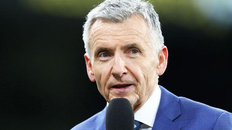 Pictured here, Bruce McAvaney was criticised for his comments about Jake Stringer.