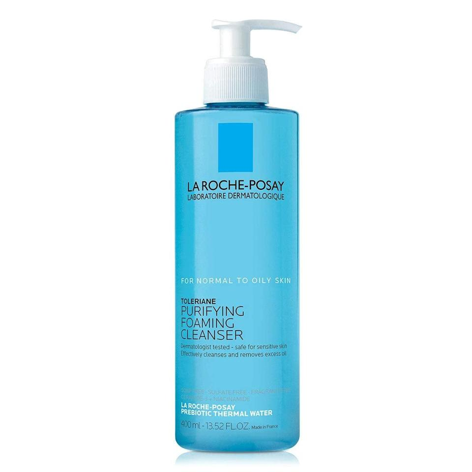 """<h2>La Roche-Posay Toleriane Purifying Foaming Cleanser</h2><br><strong>Best Foaming</strong><br><br>This is my all-time favorite cleanser for a couple of reasons. It's relatively affordable given the large size, and the gel-to-foam formula leaves my skin feeling so fresh and so clean.<br><br><strong>La Roche-Posay</strong> Toleriane Purifying Foaming Cleanser, $, available at <a href=""""https://amzn.to/3lmUuJ7"""" rel=""""nofollow noopener"""" target=""""_blank"""" data-ylk=""""slk:Amazon"""" class=""""link rapid-noclick-resp"""">Amazon</a>"""