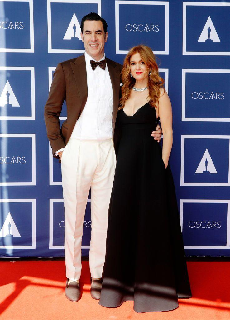 <p>Attending the Oscars virtually via a red carpet in Sydney - where it Monday morning while it was Sunday evening in Los Angeles - were the Borat and Great Gatsby star. </p>