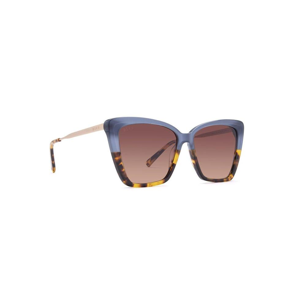 """<p>diffeyewear.com</p><p><strong>$109.00</strong></p><p><a href=""""https://go.redirectingat.com?id=74968X1596630&url=https%3A%2F%2Fwww.diffeyewear.com%2Fproducts%2Fbecky-ii-sapphire-terrain-brown-gradient&sref=https%3A%2F%2Fwww.thepioneerwoman.com%2Ffashion-style%2Fg36003005%2Fbest-cat-eye-sunglasses%2F"""" rel=""""nofollow noopener"""" target=""""_blank"""" data-ylk=""""slk:Shop Now"""" class=""""link rapid-noclick-resp"""">Shop Now</a></p><p>Ree Drummond has worn sunglasses from the brand Diff Eyewear before. Follow her lead with the company's take on the cat eye, which is oversized and mod. </p>"""