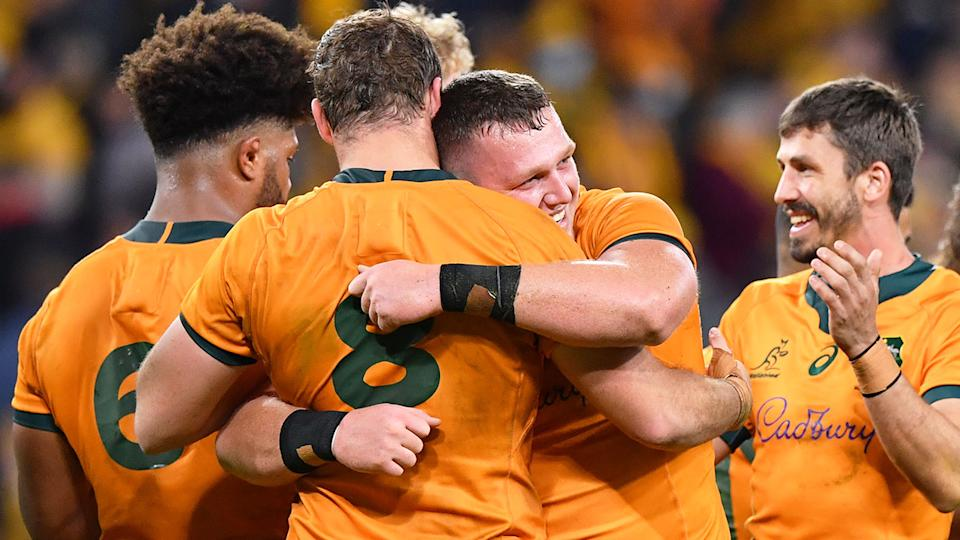 The Wallabies snatched a dramatic two-point win in the Test against France after a stirring second half fight back. Pic: AAP