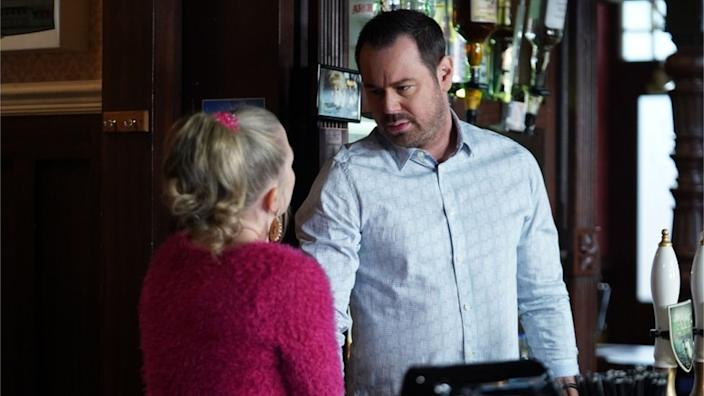 Danny Dyer and Kellie Bright (Mick and Linda Carter) will have to keep a careful distance behind the Queen Vic bar
