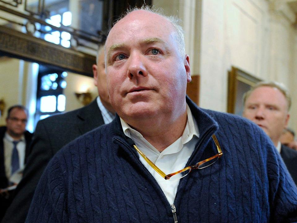 <p>Michael Skakel leaves the state Supreme Court after his hearing in Hartford, Connecticut</p> ((Associated Press))