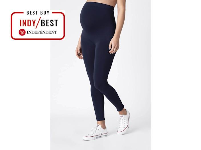 When pregnant, you'll want gym legging that stretches with your bump and won't sag (The Independent)