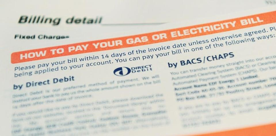 A general view of a utility bill (PA) (PA Archive)