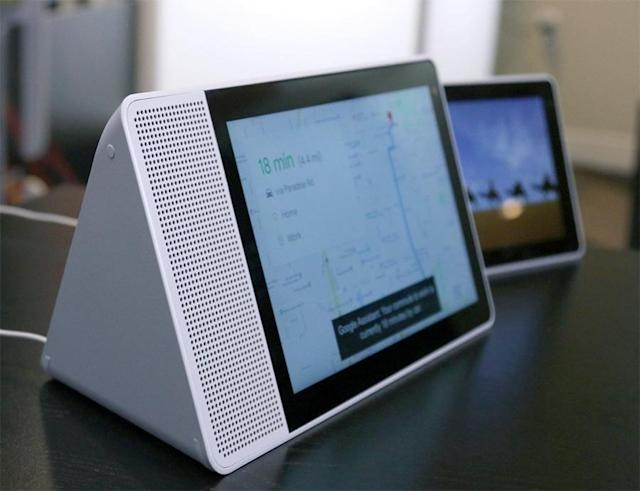 Lenovo's Google Smart Display, coming in July, adds a screen to the smart-speaker concept.