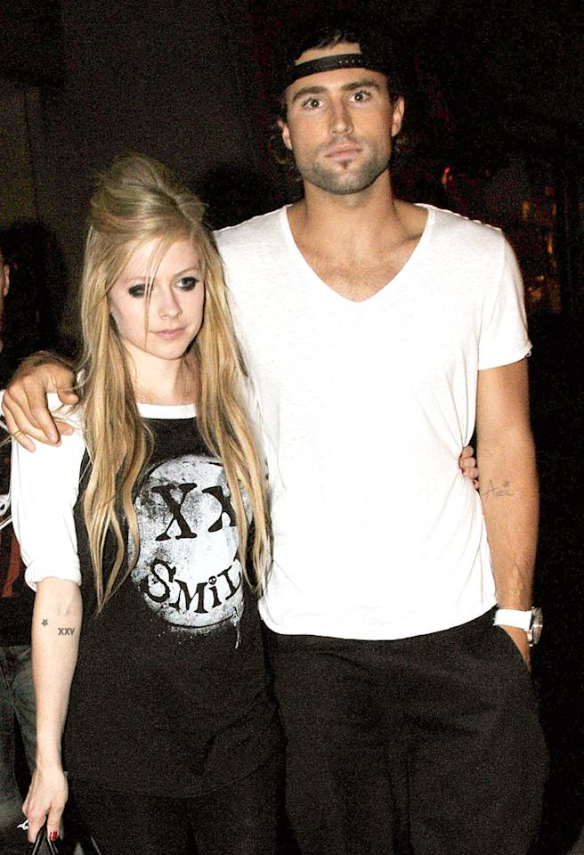 Avril Lavigne and Brody Jenner (R) sighted on June 17, 2011 in Toronto, Canada.