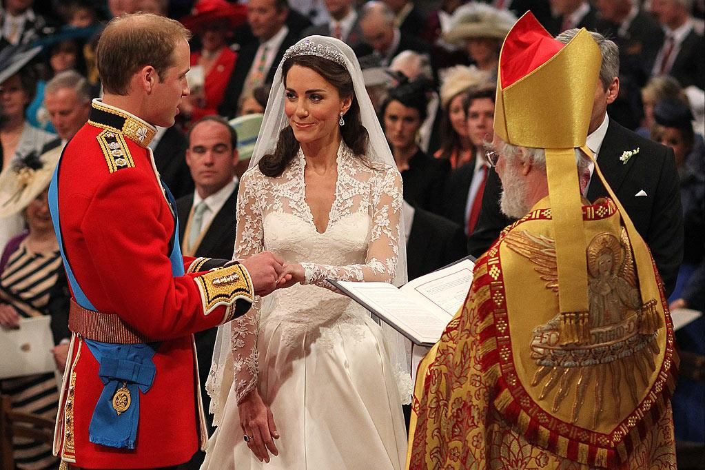 "The Ceremony: Maybe it was the way it was filmed, but there was some sort of odd soap opera quality about the actual ""I do"" portion of the wedding. Perhaps it had something to do with the stilted way that Will and Kate repeated their vows. We're sure they were nervous — there were only millions of people watching, after all — but she was barely speaking above a whisper. There was a brief moment where it looked like William was having trouble putting the ring on his bride's finger, but it finally slipped on. And we thought it was odd that he had to face forward instead of watching his bride come down the aisle. Good for rebellious Harry for turning around and taking a peek. After they were pronounced husband and wife, there were prayers and a bishop spoke about keeping God in their lives, and then all  the secret backstage official paper signing. It all seemed a little anticlimactic, but we guess that's why the balcony reveal of the newlyweds is such a big deal. <a href=""http://www.televisionwithoutpity.com/telefile/2011/04/the-royal-wedding-an-affair-to.php?__source=tw