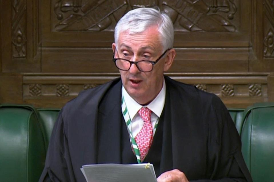 Speaker of the House of Commons Sir Lindsay Hoyle (AFP via Getty Images)