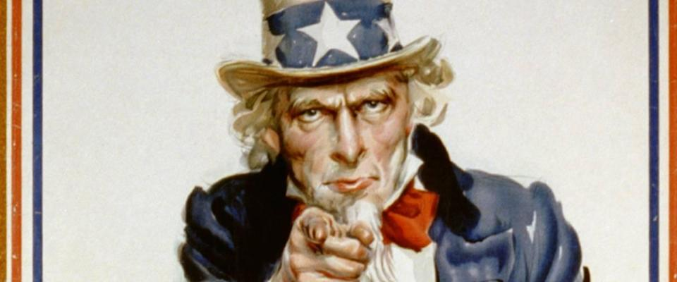 Poster of Uncle Sam pointing.