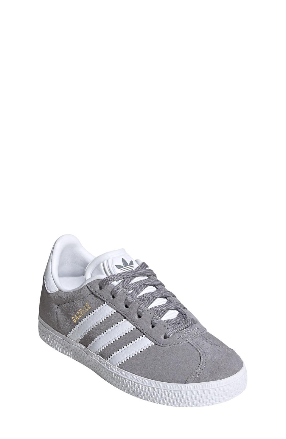 "<p><strong>ADIDAS</strong></p><p>nordstrom.com</p><p><strong>$38.50</strong></p><p><a href=""https://go.redirectingat.com?id=74968X1596630&url=https%3A%2F%2Fwww.nordstrom.com%2Fs%2Fadidas-gazelle-sneaker-toddler-little-kid-big-kid%2F5756309&sref=https%3A%2F%2Fwww.redbookmag.com%2Flife%2Fg34811477%2Fblack-friday-cyber-monday-baby-deals-2020%2F"" rel=""nofollow noopener"" target=""_blank"" data-ylk=""slk:Shop Now"" class=""link rapid-noclick-resp"">Shop Now</a></p><p>A mini version of Prince Harry's go-tos.</p>"