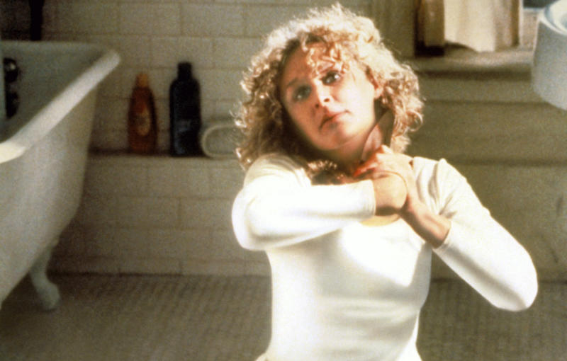 Glenn Close's 'Fatal Attraction' character killed herself in the original ending of Adrian Lyne's 1987 blockbuster (Paramount/courtesy Everett Collection)