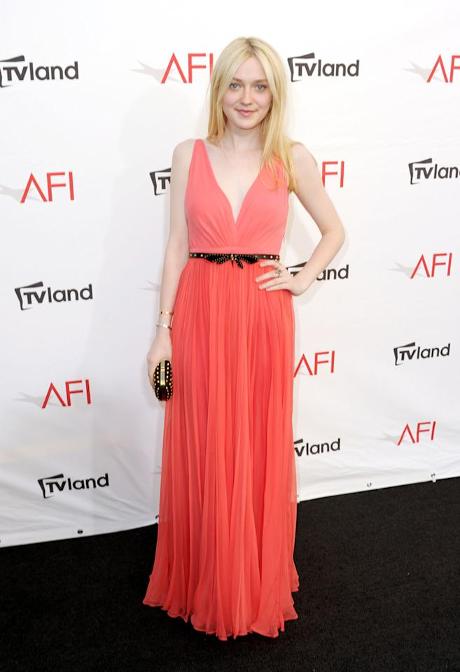 Dakota Fanning arrives at AFI's 40th Annual Life Achievement Award held at Sony Pictures Studios on June 7, 2012 in Culver City, California.