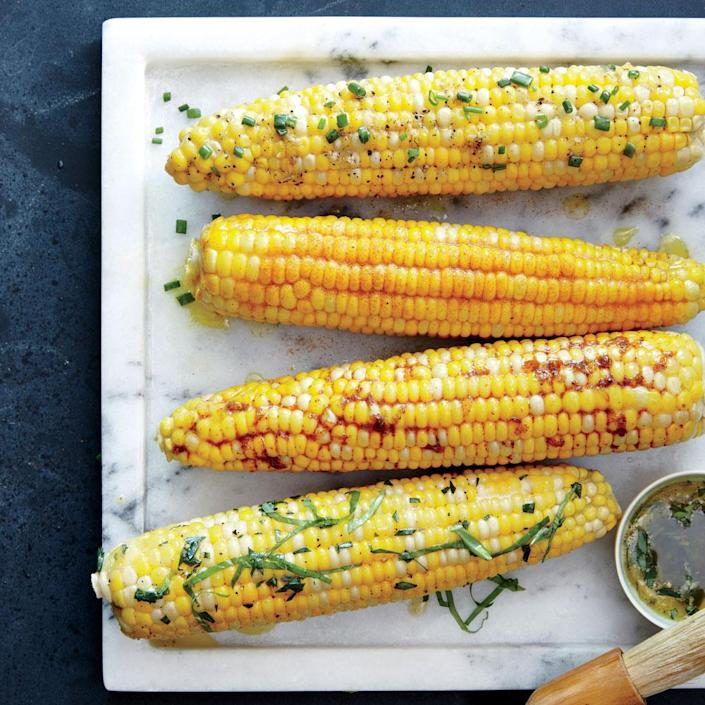 """<p>Nothing says summer like fresh corn on the cob. Here are a few of our favorite flavor combos for buttering them up: <a rel=""""nofollow noopener"""" href=""""http://www.myrecipes.com/recipe/corn-on-the-cob-lemon-curry-spice-butter"""" target=""""_blank"""" data-ylk=""""slk:Corn on the Cob with Lemon-Curry Spice Butter,"""" class=""""link rapid-noclick-resp"""">Corn on the Cob with Lemon-Curry Spice Butter,</a> <a rel=""""nofollow noopener"""" href=""""http://www.myrecipes.com/recipe/corn-on-the-cob-honey-chipotle-butter"""" target=""""_blank"""" data-ylk=""""slk:Corn on the Cob with Honey-Chipotle Butter,"""" class=""""link rapid-noclick-resp"""">Corn on the Cob with Honey-Chipotle Butter,</a> <a rel=""""nofollow noopener"""" href=""""http://www.myrecipes.com/recipe/corn-on-the-cob-orange-tarragon-basil-butter"""" target=""""_blank"""" data-ylk=""""slk:Corn on the Cob wiht Orange, Tarragon, and Basil Butter."""" class=""""link rapid-noclick-resp"""">Corn on the Cob wiht Orange, Tarragon, and Basil Butter.</a></p> <p> <a rel=""""nofollow noopener"""" href=""""http://www.myrecipes.com/recipe/corn-on-the-cob-lemon-chive-butter"""" target=""""_blank"""" data-ylk=""""slk:View Recipe: Corn on the Cob with Lemon-Chive Butter"""" class=""""link rapid-noclick-resp"""">View Recipe: Corn on the Cob with Lemon-Chive Butter</a></p>"""