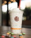 <p>Burger King's answer to the Unicorn Frappuccino – the Froot Loops milkshake. Yep, you guessed it – vanilla milkshake with the added bonus of Froot Loops cereal added to it. Still technicolour, but not quite so much. [Photo: Instagram/Burger King] </p>