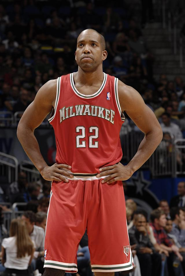 ORLANDO, FL - APRIL 5: Michael Redd #22 of the Milwakee Bucks during the game against the Orlando Magic on April 5, 2011 at the Amway Center in Orlando, Florida. (Photo by Fernando Medina/NBAE via Getty Images)