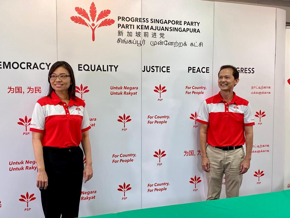Progress Singapore Party announced on 14 July 2020 that its members Hazel Poa and Leong Mun Wai will be the NCMPs at the next Parliament. (PHOTO: Koh Wan Ting/Yahoo News Singapore)
