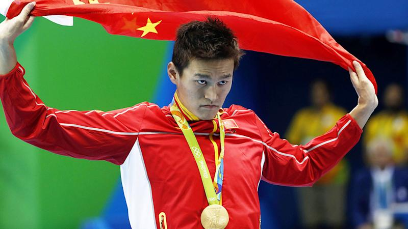 Pictured here, Sun Yang has vowed to appeal the eight-year doping ban handed down from CAS.