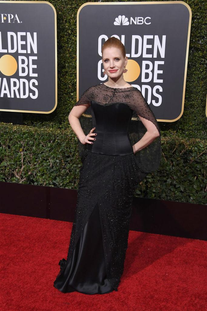 <p>Jessica Chastain attends the 76th Annual Golden Globe Awards at the Beverly Hilton Hotel in Beverly Hills, Calif., on Jan. 6, 2019. (Photo: Getty Images) </p>