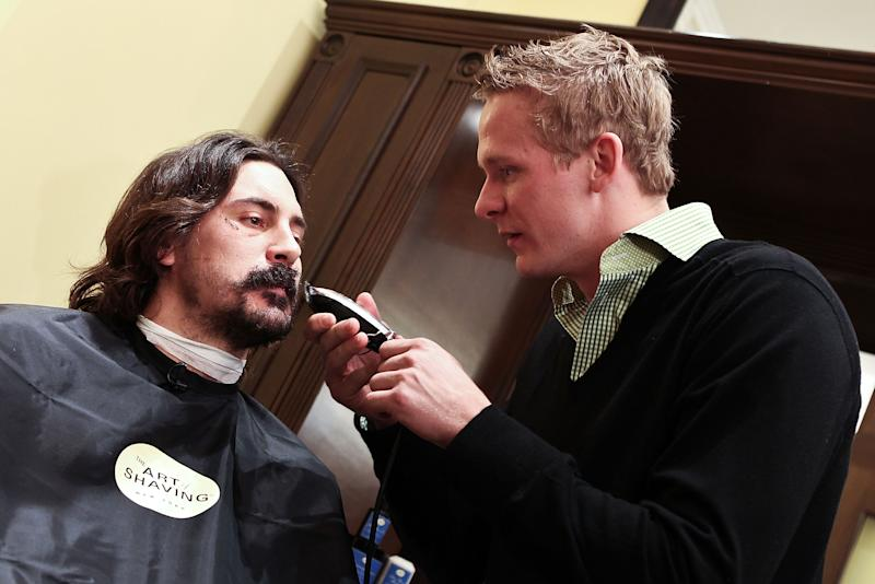 Anaheim Ducks Kick Off Movember At The Art Of Shaving In Washington, DC