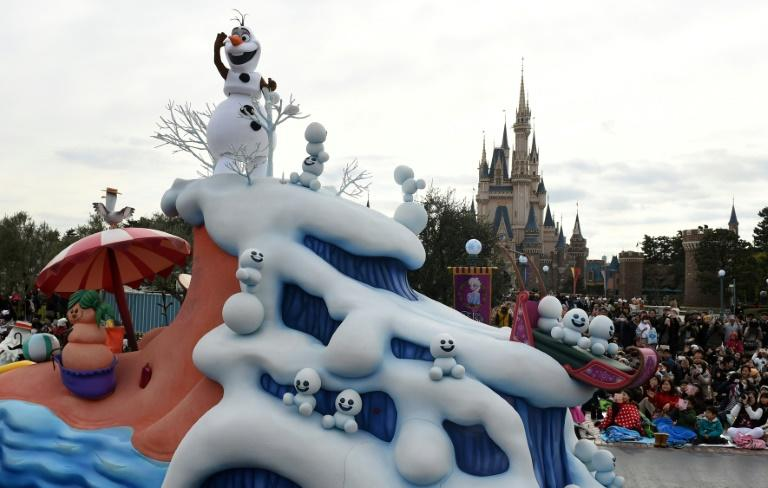 Gad's character Olaf the Snowman -- shown here on a float in Tokyo Disneyland -- has become a beloved addition to the Disney universe