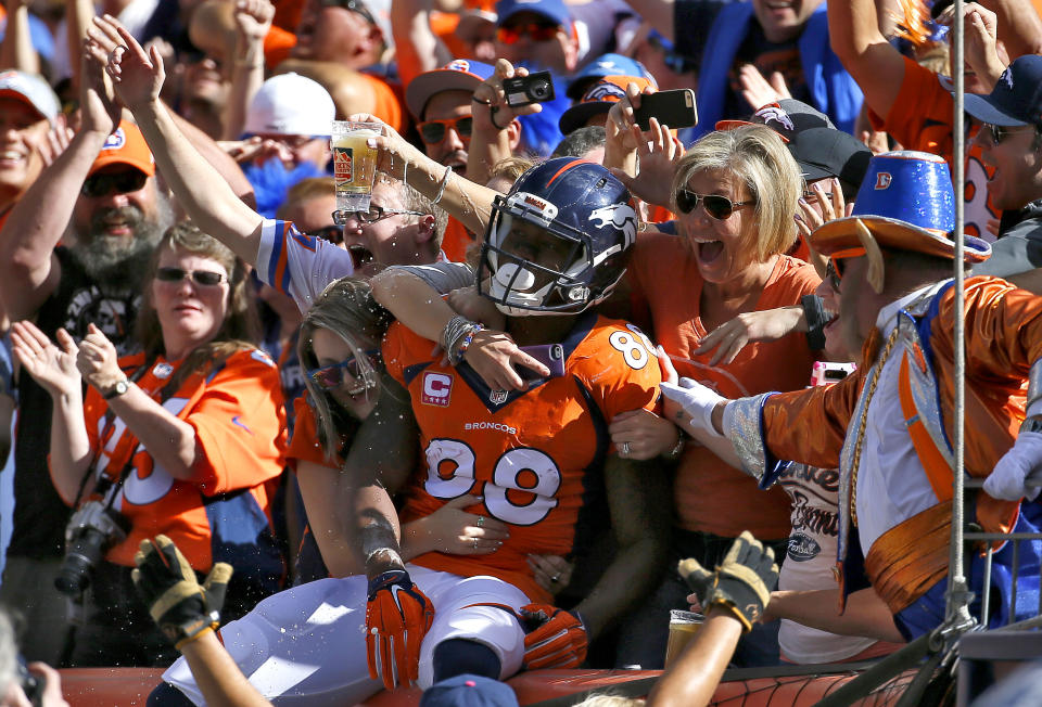 Fantasy owners should feel the Demaryius love. (AP)