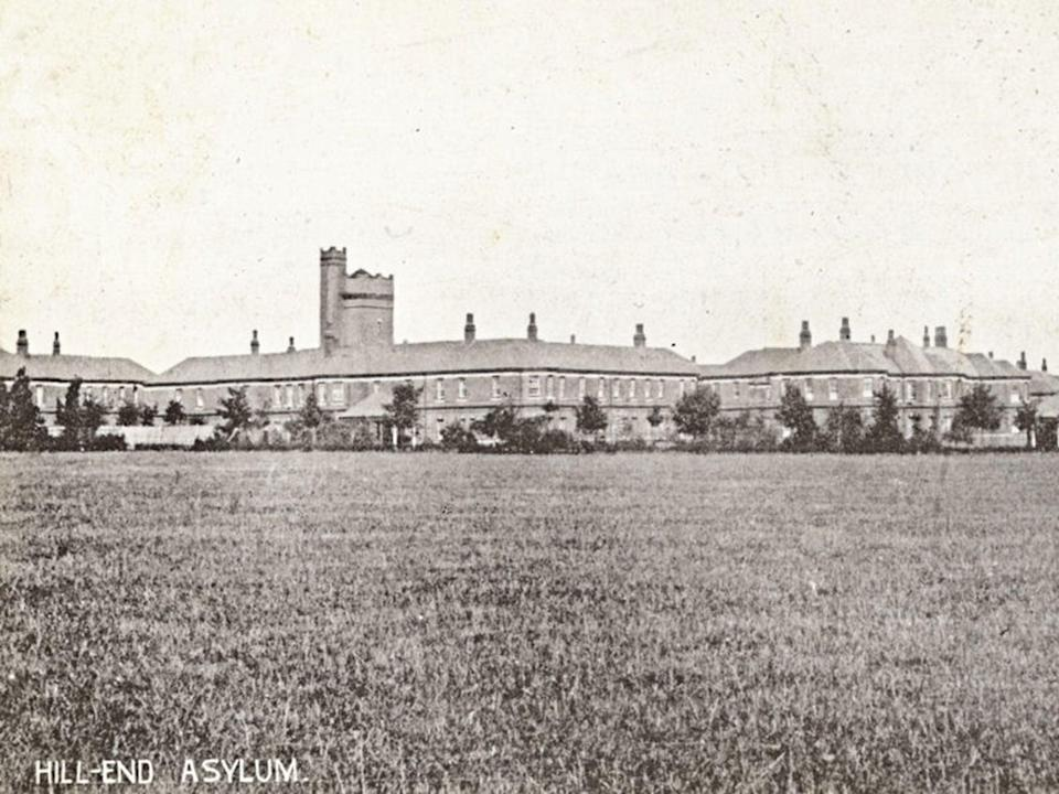 A postcard published in 1904, depicting Hill End Asylum, which later became Hill End Hospital Adolescent Unit (Wikimedia Commons)