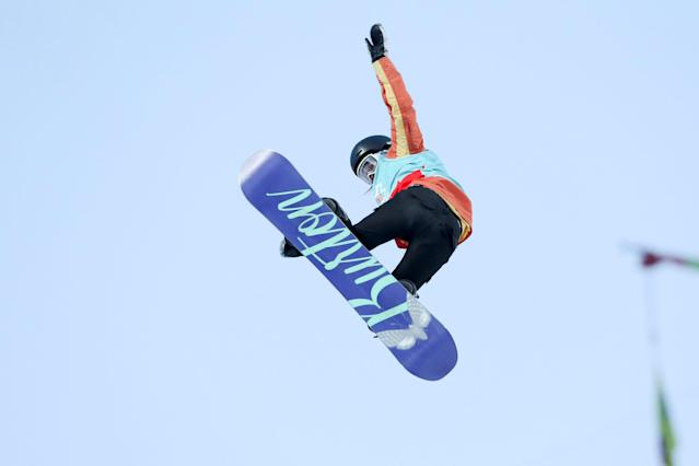 Julia Marino of the US competes at the X-Games Women's Snowboard Slopestyle finals, receiving Bronze, in Hafjell, Norway March 10, 2017. NTB Scanpix/Geir Olsen/via REUTERS ATTENTION EDITORS - THIS IMAGE WAS PROVIDED BY A THIRD PARTY. FOR EDITORIAL USE ONLY. NORWAY OUT. NO COMMERCIAL OR EDITORIAL SALES IN NORWAY. NO COMMERCIAL SALES.