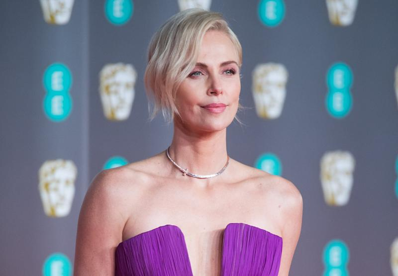 LONDON, ENGLAND - FEBRUARY 02: Charlize Theron attends the EE British Academy Film Awards 2020 at Royal Albert Hall on February 02, 2020 in London, England. (Photo by Samir Hussein/WireImage)