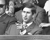 <p>Prince Charles watching a match in June 1970.</p>