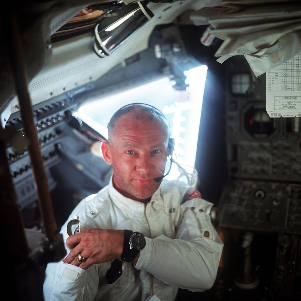 """<p>Edwin """"Buzz"""" Aldrin former engineer, fighter pilot, and lunar pioneer celebrates his 89th birthday today. In 1969, he and fellow astronaut Neil Armstrong because the two first humans to land on the moon. We honor a lifetime of achievements by paying tribute to some of Aldrin's special captured moments.</p>"""