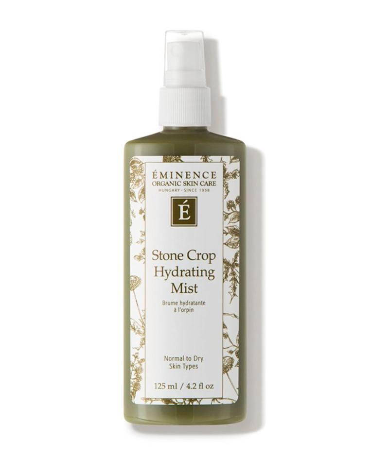 """I recommend using a hydrating mist (Eminence Stone Crop Hydrating Mist) before applying your serums and moisturizer. These types of toners help add a touch of hydration and allow your water-based products to penetrate even deeper.""<strong> &mdash; Mustapich at </strong><strong>Facehaus<i>. </i></strong>Find it for $38 at <a href=""https://fave.co/2X90clq"" target=""_blank"" rel=""noopener noreferrer"">Dermstore</a>."