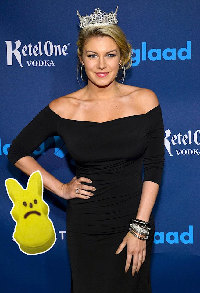 NEW YORK, NY - MARCH 16:  Miss America 2013 Mallory Hagan attends the Ketel One VIP Red Carpet Suite at the 24th Annual GLAAD Media Awards at the Marriott Marquis on March 16, 2013 in New York.  (Photo by Larry Busacca/Getty Images for GLAAD)