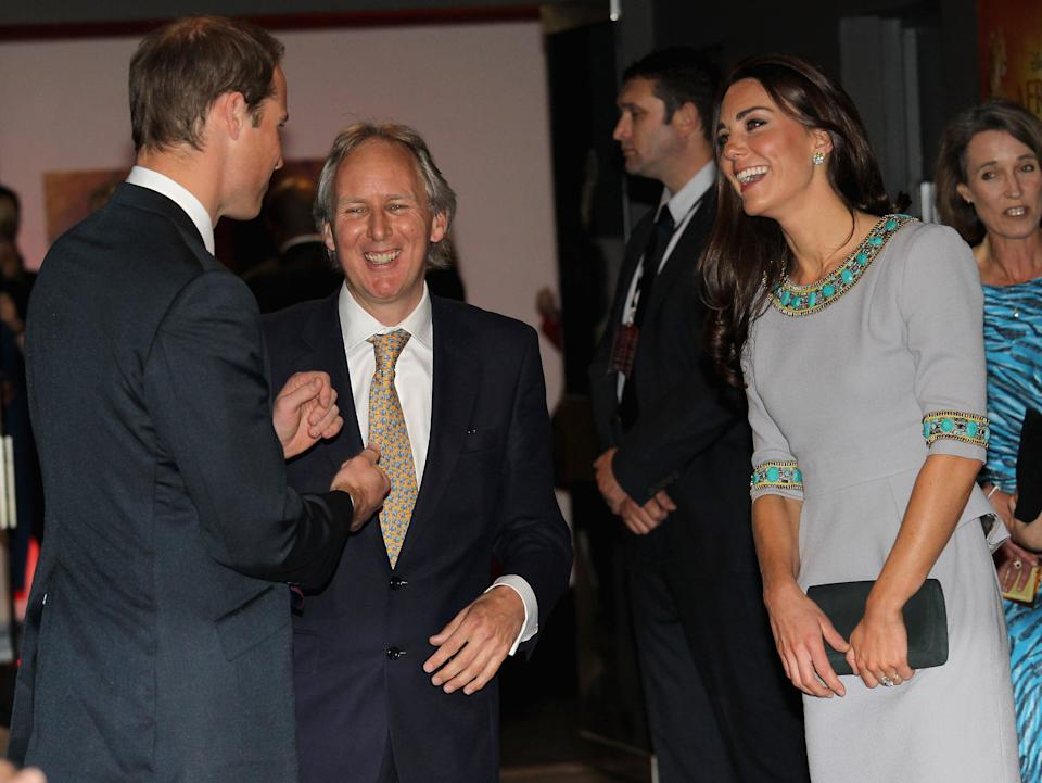 LONDON, ENGLAND - APRIL 25:  Prince William, Duke of Cambridge and Catherine, Duchess of Cambridge talk to Charlie Mayhew of Tusk Trust as they attend the UK Premiere of 'African Cats' in aid of Tusk at BFI Southbank on April 25, 2012 in London, England.  (Photo by Chris Jackson - WPA Pool /Getty Images)
