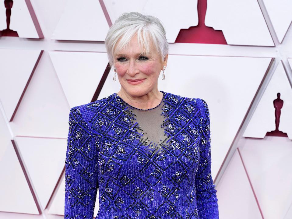 Glenn Close attends the 93rd Annual Academy Awards at Union Station on 25 April 2021 in Los Angeles, California (Chris Pizzelo-Pool/Getty Images)
