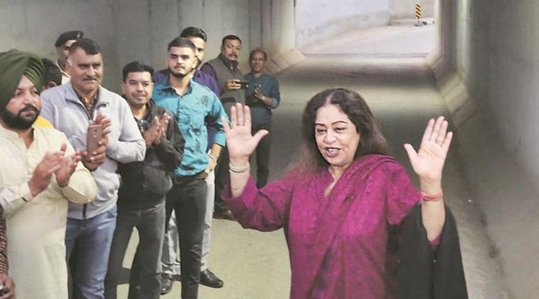 Chandigarh MP Kirron kher pulls up chief engineer: 'See the condition of roads'